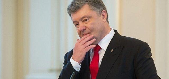 СМИ: Кортеж Порошенко сбил мотоциклиста на Закарпатье. Видео