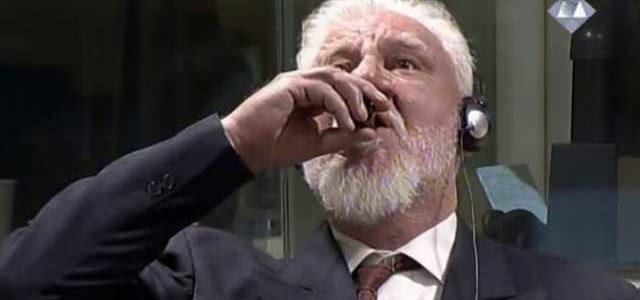 Хорватский генерал умер, выпив яд на заседании Гаагского трибунала